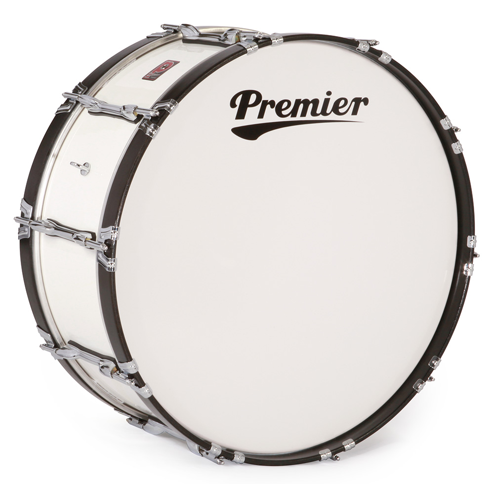 Traditional Series Bass Drum In Ivory White Lacquer